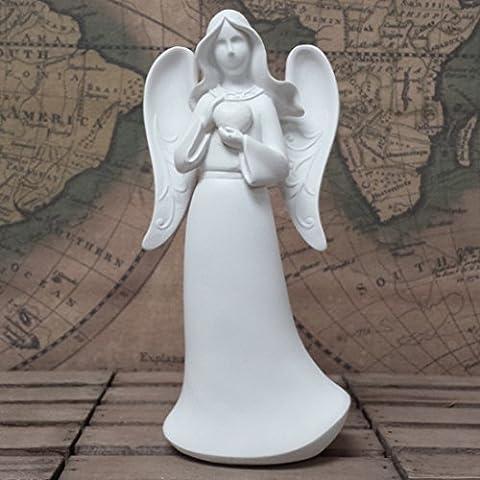 ANGEL holding Heart figurine, figure, ornament 18.5cm