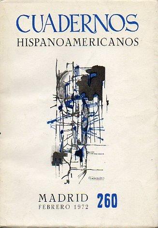 CUADERNOS HISPANOAMERICANOS. Revista mensual de cultura hispánica. Nº 260.