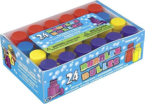 Unique Party 95233 - Mini fête bulles Lots cadeaux de fête, Lot de 24 PACK OF 72 multicolore