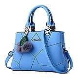 Bolsos De Las Mujer Hobo Bolsa De PU Cuero Moda Casual Elegante Bolsa de Mano La luz azul