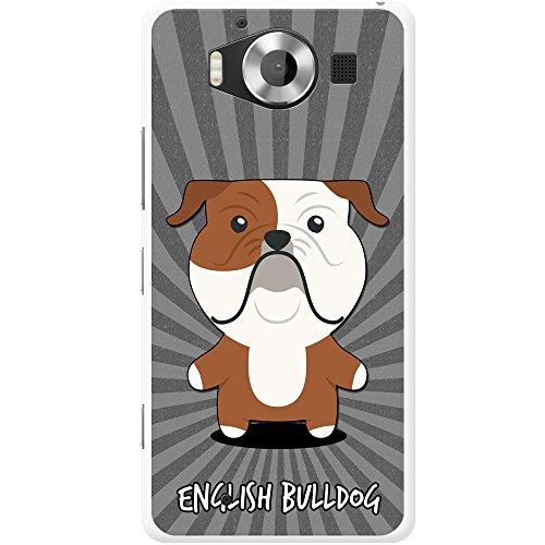 Englische Bulldogge, Britische Bulldogge Hartschalenhülle Telefonhülle zum Aufstecken für Microsoft Lumia 950 (Bulldogge Valentine Englische)