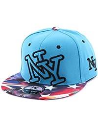 Snapback NY Bleu vintage drapeau US - Mixte