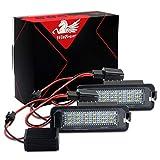 WinPower LED Éclairage plaque immatriculation auto ampoules super brillant CanBus Pas d'erreur 6000K xénon blanc froid 18 SMD Feux arrière pour Golf 4 5 6 etc, 2 Pièces