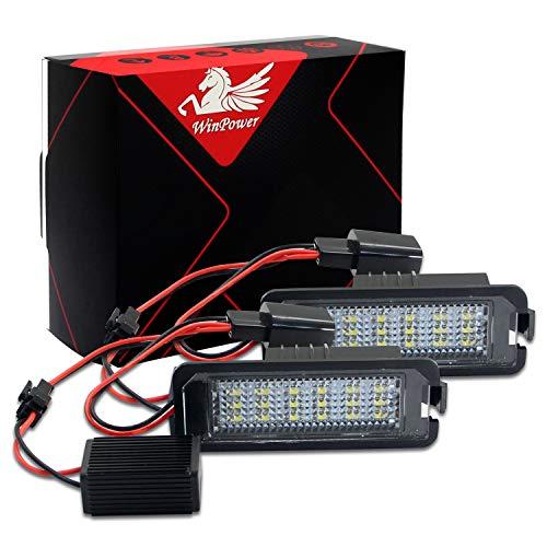 Win Power senza errori 18SMD LED numero targa luce bianco freddo lampade lampadina di montaggio per golf MK4 MK5 MK6 Passat CC, 2 pezzi