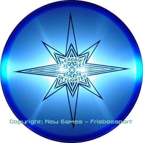 AEROBIE SKYLIGHTER Wurfscheibe 24cm LED Beleuchtung Farbe wählbar 778988182154(BLAU)