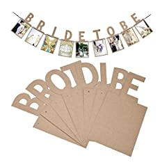 Idea Regalo - Veewon Bride to Be con bandierine vintage cornice per foto album foto striscioni Garland favor Decorations
