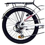 giordanoshop-Bicicletta-Pieghevole-20-in-Alluminio-6V-Denver-Bike-Folding-20-Bianca