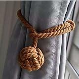 Ein Paar handgestrickte Vorhang-Raffhalter von Do4U braun