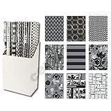 6er Rollen Set Balck and White Schwarz und Weiß Geschenkpapier 200 x 70 cm verschiedene Designs