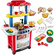 deAO Cocina de Juguete Happy Little Chef Cocinita con Luces, Sonidos, Funciones de Agua