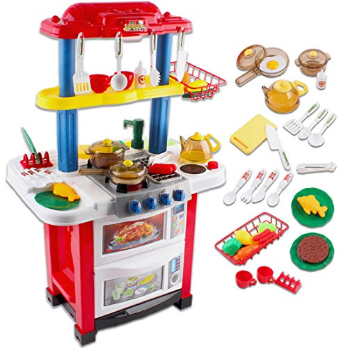 deAO Cocina de Juguete Happy Little Chef Cocinita con Luces,...