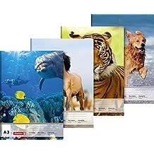 Brunnen 1047903 Zeichenblock (A3, 100 g/m², 10 Blatt) Tiermotive