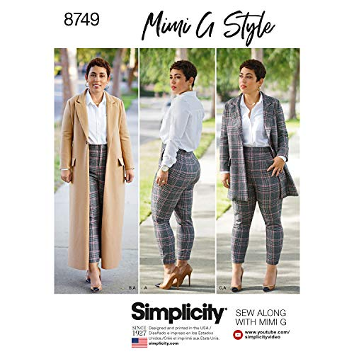 Simplicity Mimi G Style Misses' & Women's Coat & Pants-10-12-14-16-18