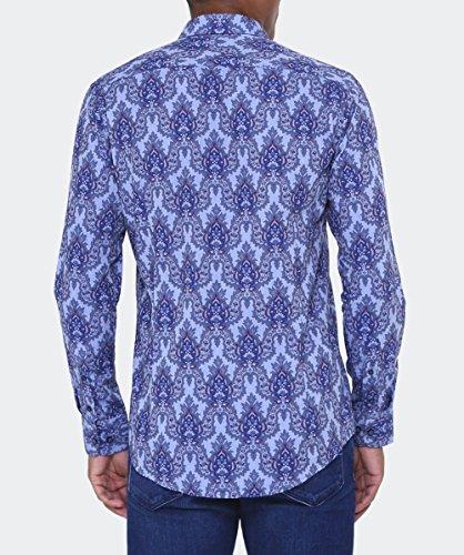 Guide London Hommes Chemise orner Bleu Bleu