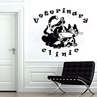 wangpdp Pet Salon Animals Pets Veterinary Clinic Dogs Cats Grooming Art Vinyl Wall Sticker Pet Shop Window Glass Room Decor 55 * 62cm