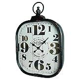 Grande orologio da parete Stile ex Orologio a taschino pendolo in ferro e vetro 7x 44x 66cm