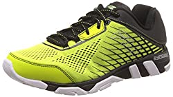 Fila Mens Mechanic 4 Enrzd Safety Yellow, Black and Metallic Silver Running Shoes -9 UK/India(43 EU)(10 US)