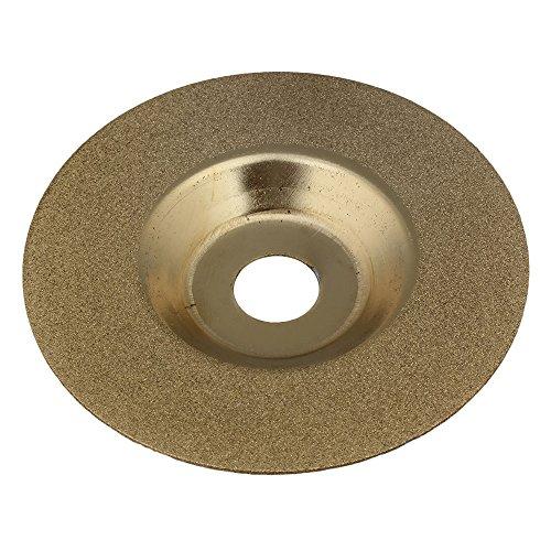 mxfans Diamant Schleifteller Rad Glas 10,2cm für Winkelschleifer Golden (Winkelschleifer-diamant-rad)