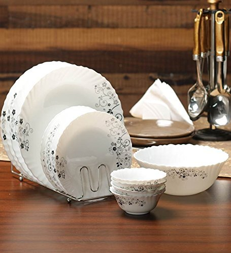 9. Diva Mystrio Black 19 Pcs Dinner Set