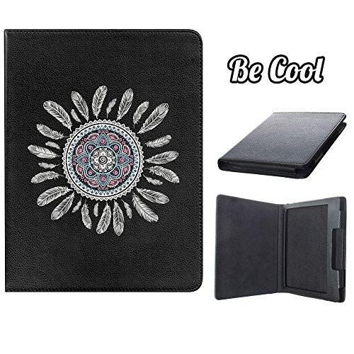 BeCool® - Custodia a Libro Kindle Oasis, [Funzione di supporto], protegge e si adatta alla perfezione al tuo Ebook e oltrettutto ha il nostro disegno esclusivo. Piume bianche