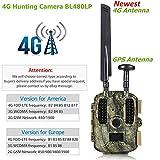 XWEM Wildlife Camera, 4G112 ° Weitwinkelobjektiv/90 ° Schmalwinkelobjektiv 1080P HD-Video 0.6S Triggergeschwindigkeit IP66 Wasserdichte Nachtsicht-Infrarot-HD-Kamera, Unterstützung MMS GPRS GSM