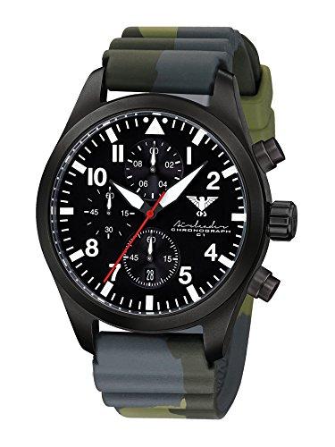 KHS Reloj para Hombre Analógico Cuarzo con Brazalete de Silicona KHS.AIRBSC.DC3