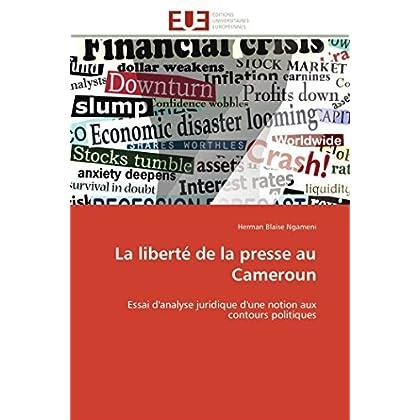 La liberté de la presse au cameroun