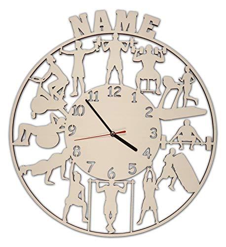 Wand Uhr Fitness Geschenke Männer Frauen Deko individuell personalisiert - Personalisierte Wand-uhr