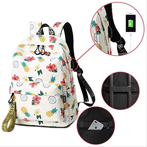 Xjwq zaino scuola nuova 2019 stampa di moda borse di alta qualità bambini scuola borse donne zaini adolescenti studenti viaggio zaino zaino usb di grandi dimensioni
