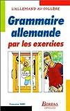grammaire allemande par les exercices
