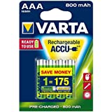 Varta - Lot de 4 Piles rechargeables Accu Ready2Use AAA Ni-Mh (800 mAh)