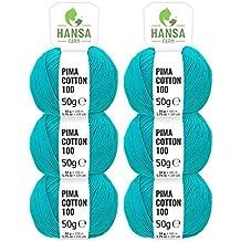 HANSA-FARM 100% algodón (Pima Cotton) DK en 12 Colores - 300g