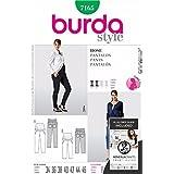 Burda patrón de costura para traje de neopreno para mujer 7165 - Pack de bolso para carrito y longitud total pantalón para tamaños: 8-20