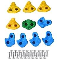 Zerone Piedras Escalada, Escalar Kit para Niños Mix 10pcs o 20pcs, Accesorios para Paredes de Escaladas de Interior y Exterior (10 Piezas)