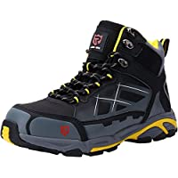 LARNMERN Mens Work Safety Boots, Steel Toe SRC Casual Breathable Outdoor Protection Trainers Industrial and Construction Shoes