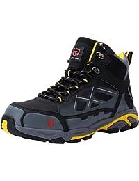 Zapato de Seguridad S3 SRC,LM-1702, con Tapa de Acero con Suela Antideslizante Caucho, Antiestático