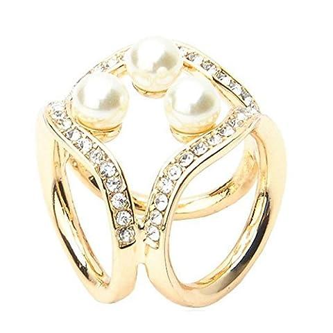 2ST Frauen Eleganter Stilvoller Drei-Ring Diamant Legierung Schal Schnalle Schal Clip Zubehör,C-OneSize