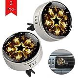 Bagliore dorato di stelle Deodorante Per Auto Deodorante Per Diffusore Di Olio Essenziale Per Mini Aromaterapia Per Auto Da Ufficio 34x46.5mm