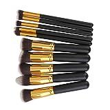 Imported Phenovo Makeup Brushes Set Tool Pro Foundation Eyeshadow Eyeliner Soft 10Pcs