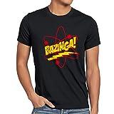 CottonCloud Sheldon Atom Herren T-Shirt, Größe:L;Farbe:Schwarz
