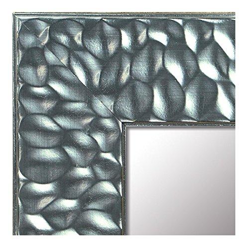 -Espejo de Madera Fabricado en España- Tamaño 58x153 cm. Espejo Decorativo de Pared Modelo 303 Plata. Ideal para Salón, Dormitorio, Vestidor, Baño o Pasillo.
