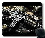 Komfortable Mauspad, Pistole, Pistole, Mauspad mit genähten Kanten