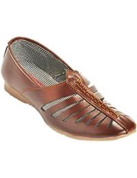 Kolapuri Centre Brown Color Casual Slip On Sandal For Boy's - B075WVJC23