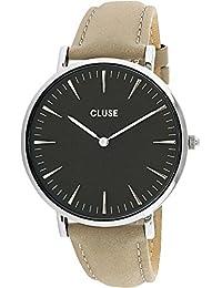 Cluse Reloj Analógico Automático para Mujer con Correa de Cuero – CL18218