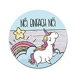 Einhorn Mousepad Nö | dv_221 | mit rutschfester Unterlage | Mauspad Computerzubehör Unicorn Wolken Sterne Regenbogen Geschenkidee Pad Maus