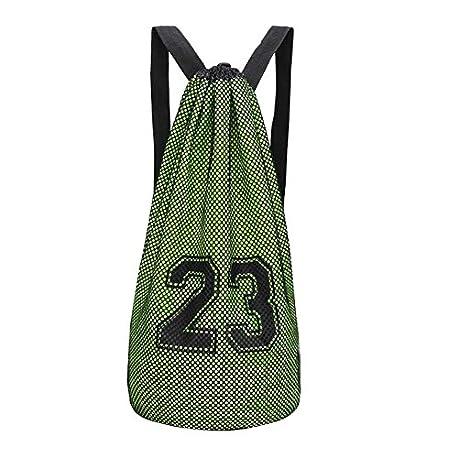 Black Temptation Bolsa de Baloncesto Paquete de Entrenamiento Bolsa de Red de Baloncesto Mochila con cord n F4