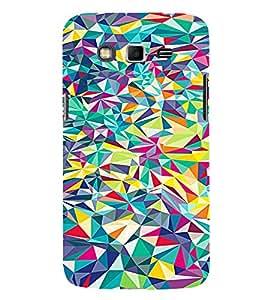 PrintVisa Modern Art Colorful Pattern 3D Hard Polycarbonate Designer Back Case Cover for Samsung Galaxy Grand 2