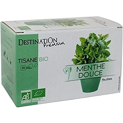 Destination Bio - Tisane Bio Infusion Plante Menthe Douce - 20 X 1,5 Grs
