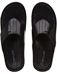 Franco Leone Men's Leather Hawaii Thong Sandals