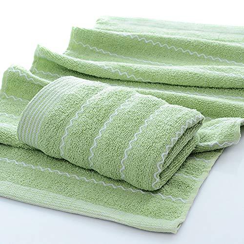 lymty Natürliche Qualität 100% Baumwolle Handtuch Set Streifen Super weiches saugfähiges Badetuch Handtuch Waschlappen Reversible Volltonfarbe Hypoallergen Durable -